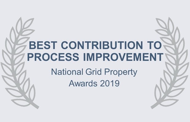 Best contribution to process improvement National Grid Property Awards 2019