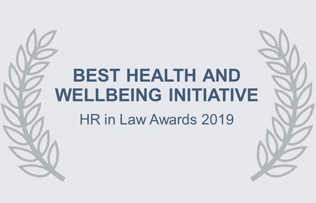 Best Health and Wellbeing Initiative HR in Law Awards 2019
