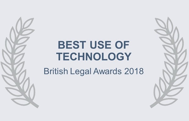 Best use of technology British Legal Awards 2018