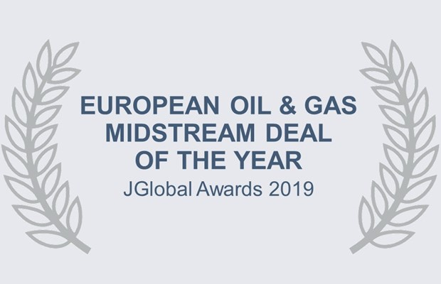 European Oil & Gas Midstream Deal of the Year JGlobal Awards 2019