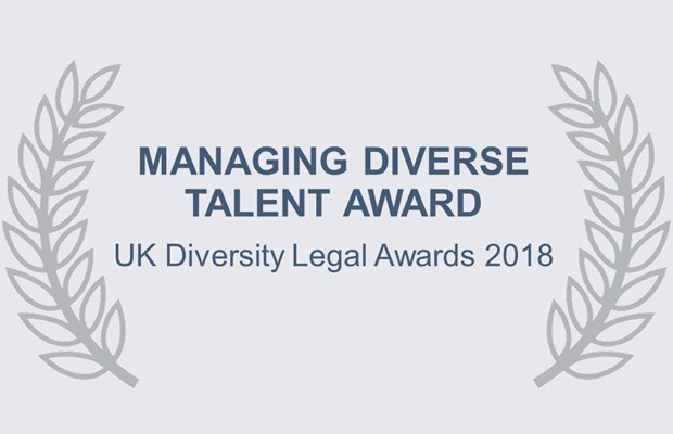 Managing Diverse Talent Award UK Diversity Legal Awards 2018