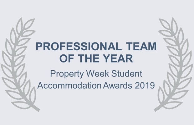 Professional Team of the Year Property Week Student Accommodation Awards 2019