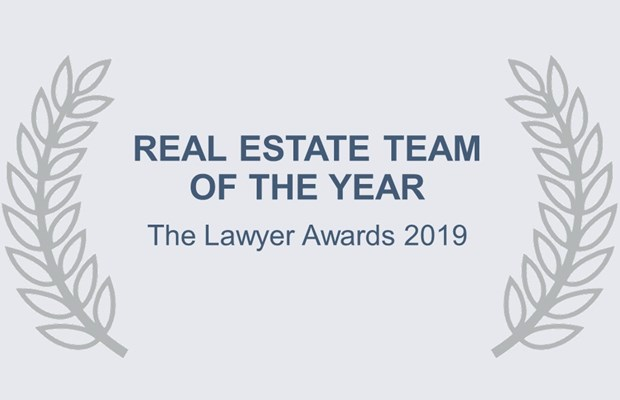 Real Estate Team of the Year The Lawyer Awards 2019