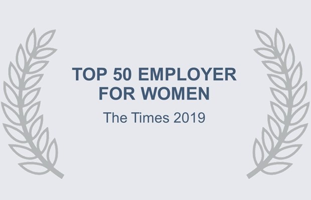 Top 50 Employer for Women The Times 2019