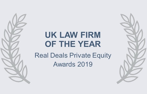 UK Law Firm of the Year Real Deals Private Equity Awards 2019