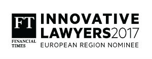 FT Innovative Lawyers Awards European Region Nominee 2017