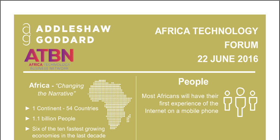 Infographic Africa Technology Forum 2016