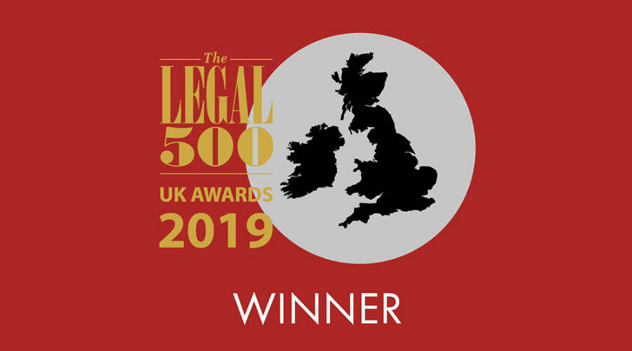 Legal 500 Dispute Resolution Firm of the Year Award 2019
